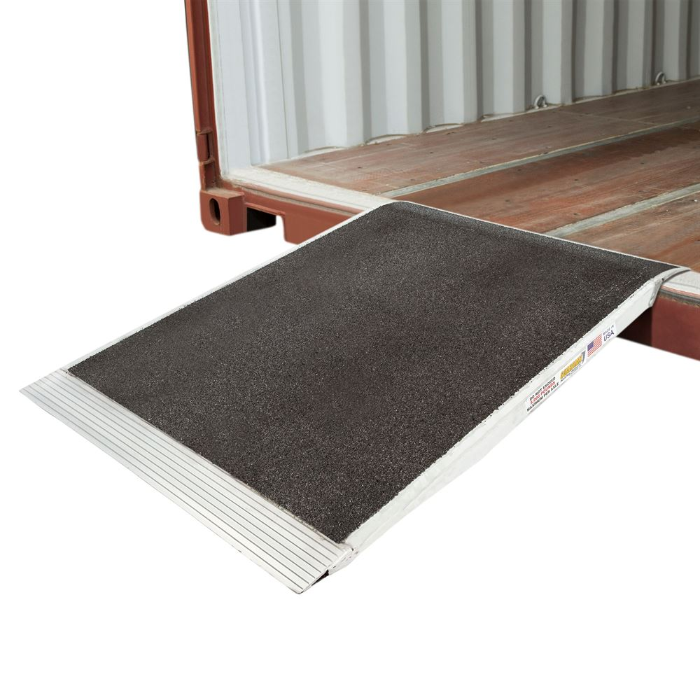 05-36-048-06-Grit 48 x 36 Guardian Aluminum Grit Shipping Container Ramp - 5000 lb Capacity