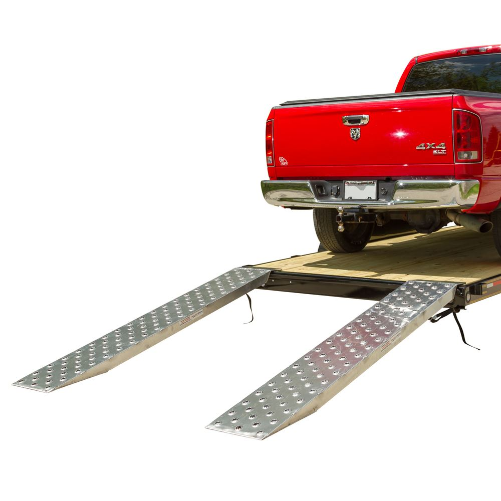 05-TTRAMP-FLAT-PP EZ Traction Aluminum Plate End Car Trailer Ramps - 5000 lb per axle Capacity