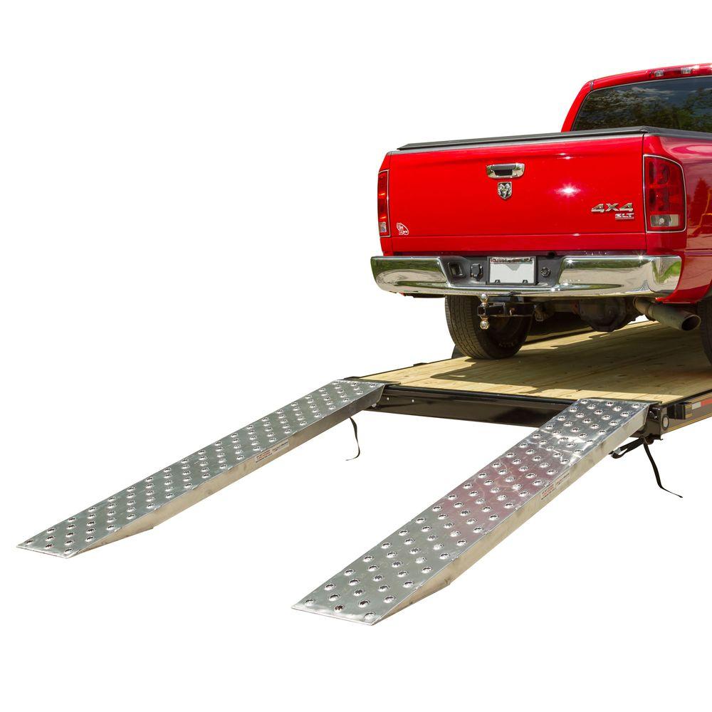 05-TTRAMP-FLAT-PP EZ Traction Aluminum Plate End Car Trailer Ramps - 5000 lb per axle Capacity