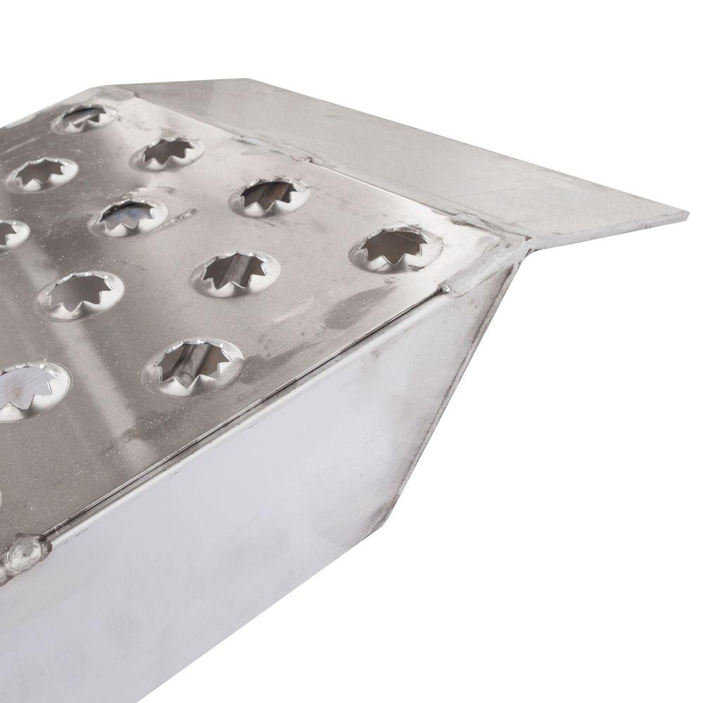 05-TTRAMP-FLAT-PP EZ Traction Aluminum Plate End Car Trailer Ramps - 5000 lb per axle Capacity 1