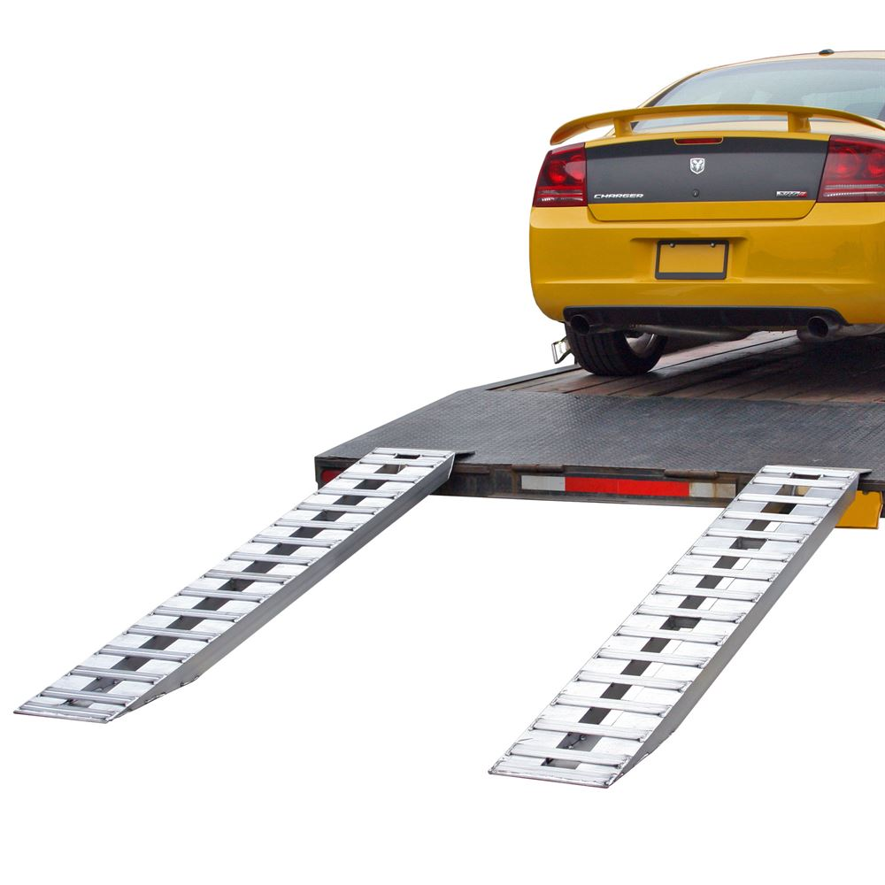 05-TTRAMP-FLAT Aluminum Plate End Car Trailer Ramps - 5000 lb per axle Capacity