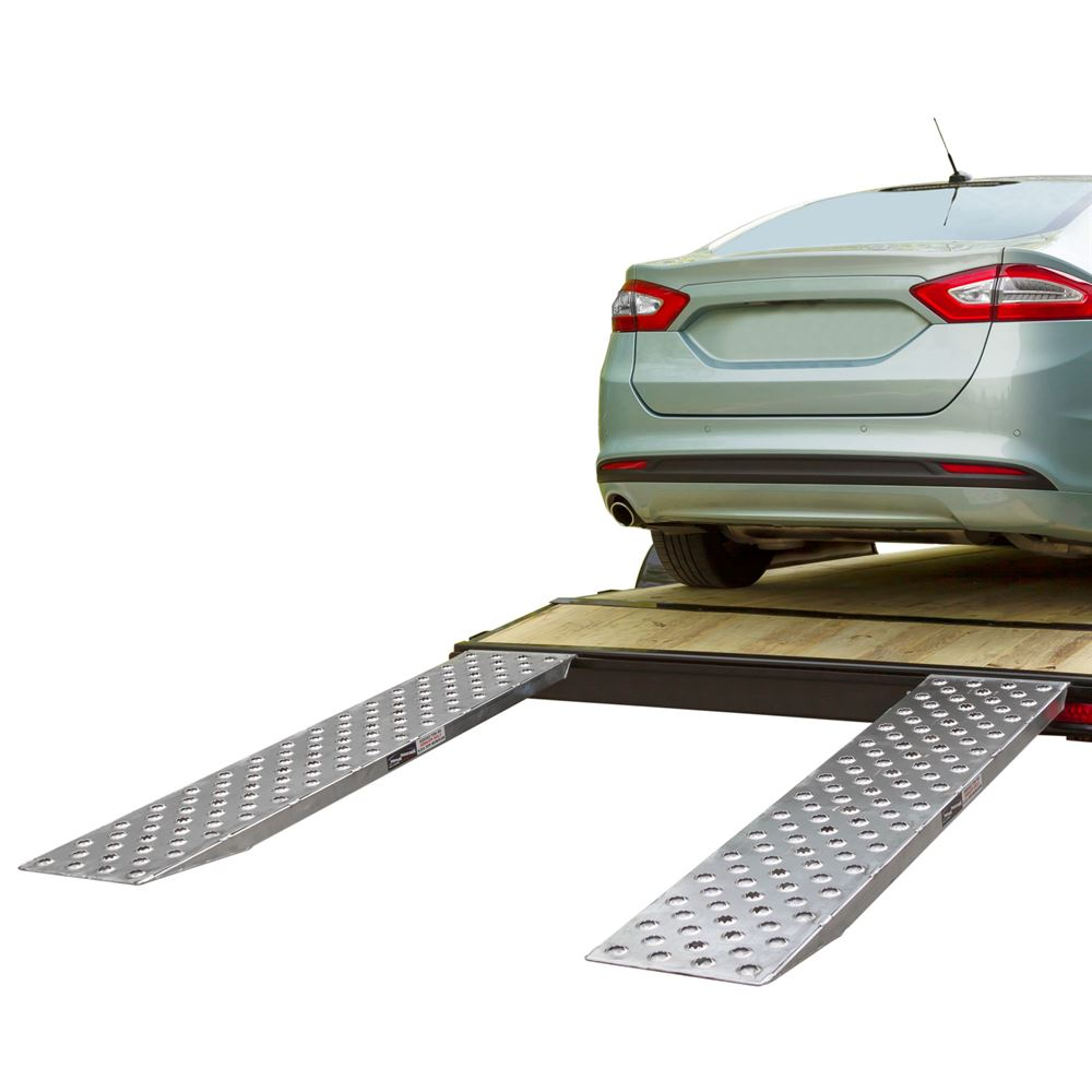 05-TTRAMP-HOOK-PP EZ Traction Hook End Aluminum Car Trailer Ramps - 5000 lb per axle Capacity