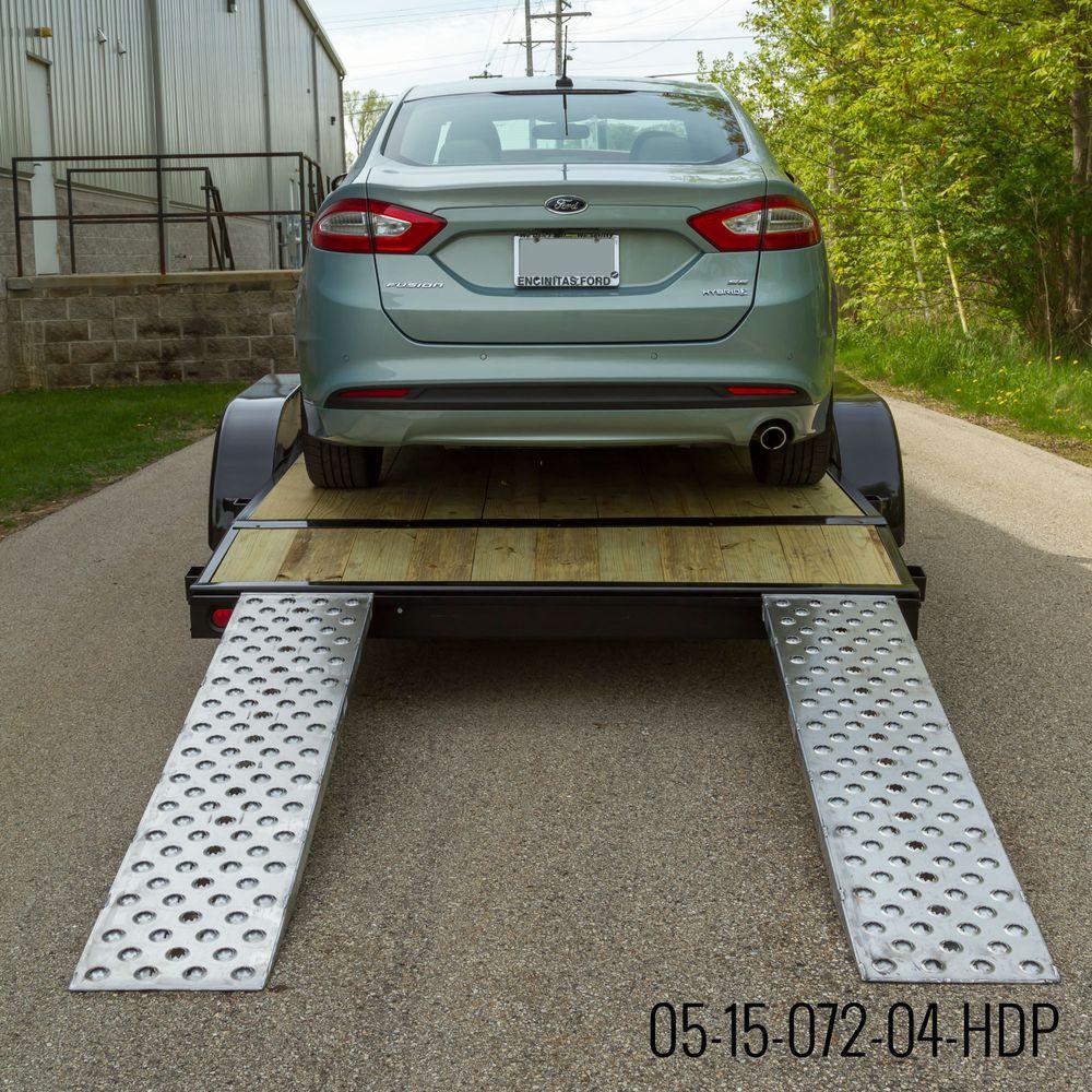 05-TTRAMP-HOOK-PP EZ Traction Hook End Aluminum Car Trailer Ramps - 5000 lb per axle Capacity 2