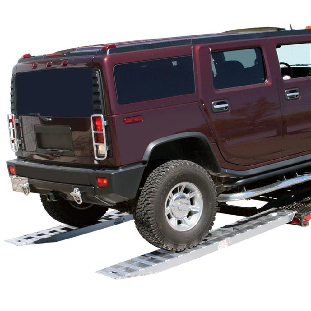 05-TTRAMP-HOOK Aluminum Hook End Car Trailer Ramps - 5000 lb per axle Capacity