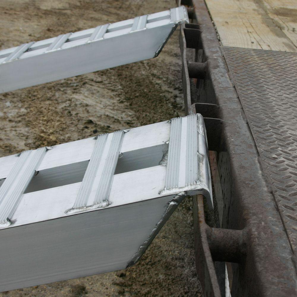 05-TTRAMP-HOOK Aluminum Hook End Car Trailer Ramps - 5000 lb per axle Capacity 6