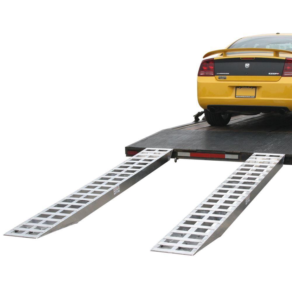 05-TTRAMP-PIN Aluminum Pin-On End Car Trailer Ramps - 5000 lb per axle Capacity