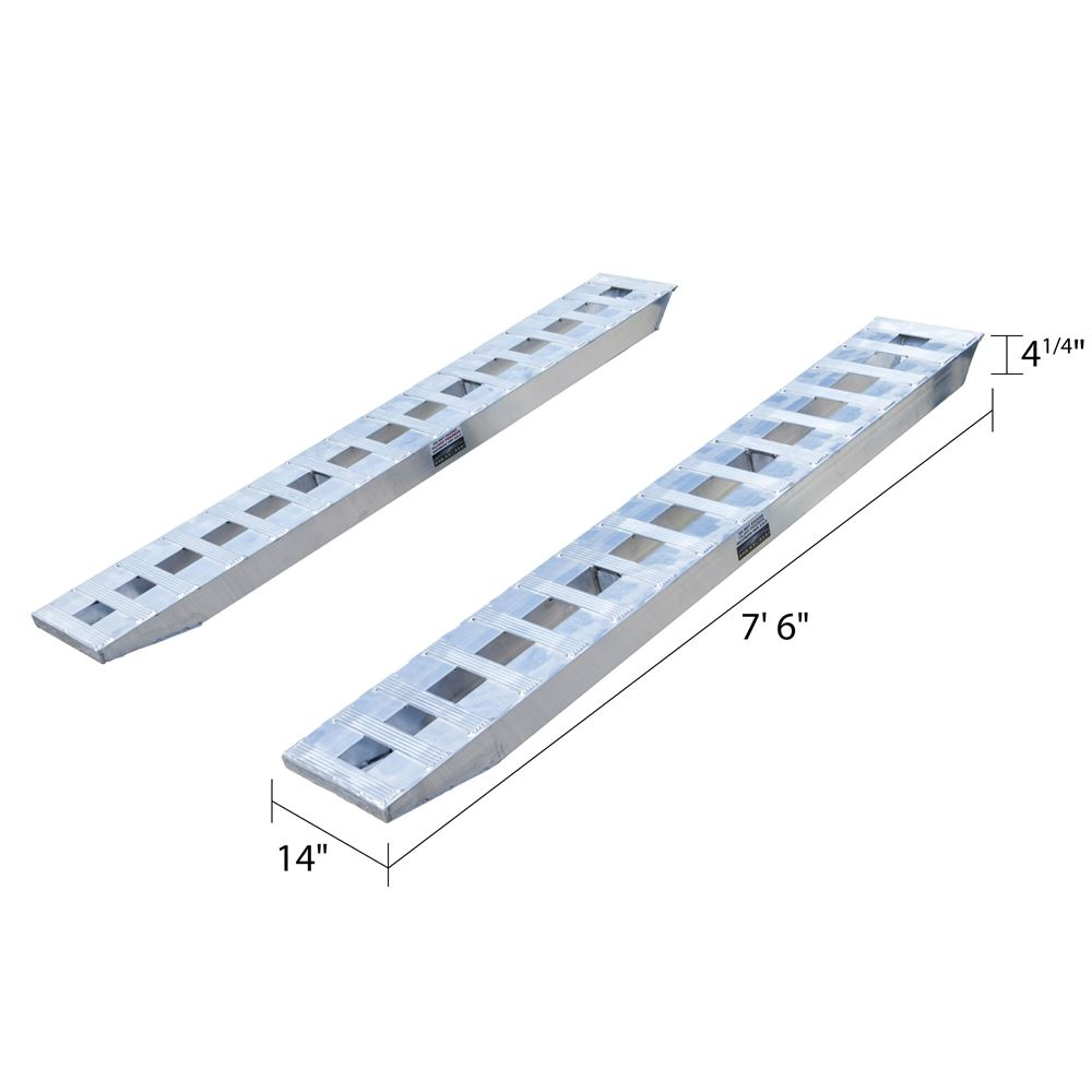10-14-090-02-S 7 6 L x 14 W x 4-14 H Aluminum Ramps with Pin-On Ends - 10000 per axle Capacity 3