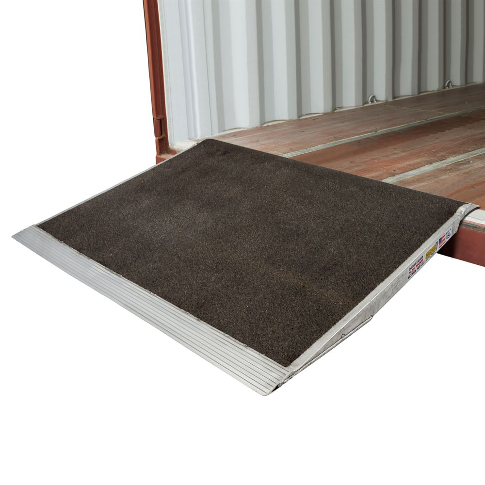 10-63-048-06-Grit 48 x 63 Guardian Aluminum Grit Shipping Container Ramps - 10000 lb Capacity