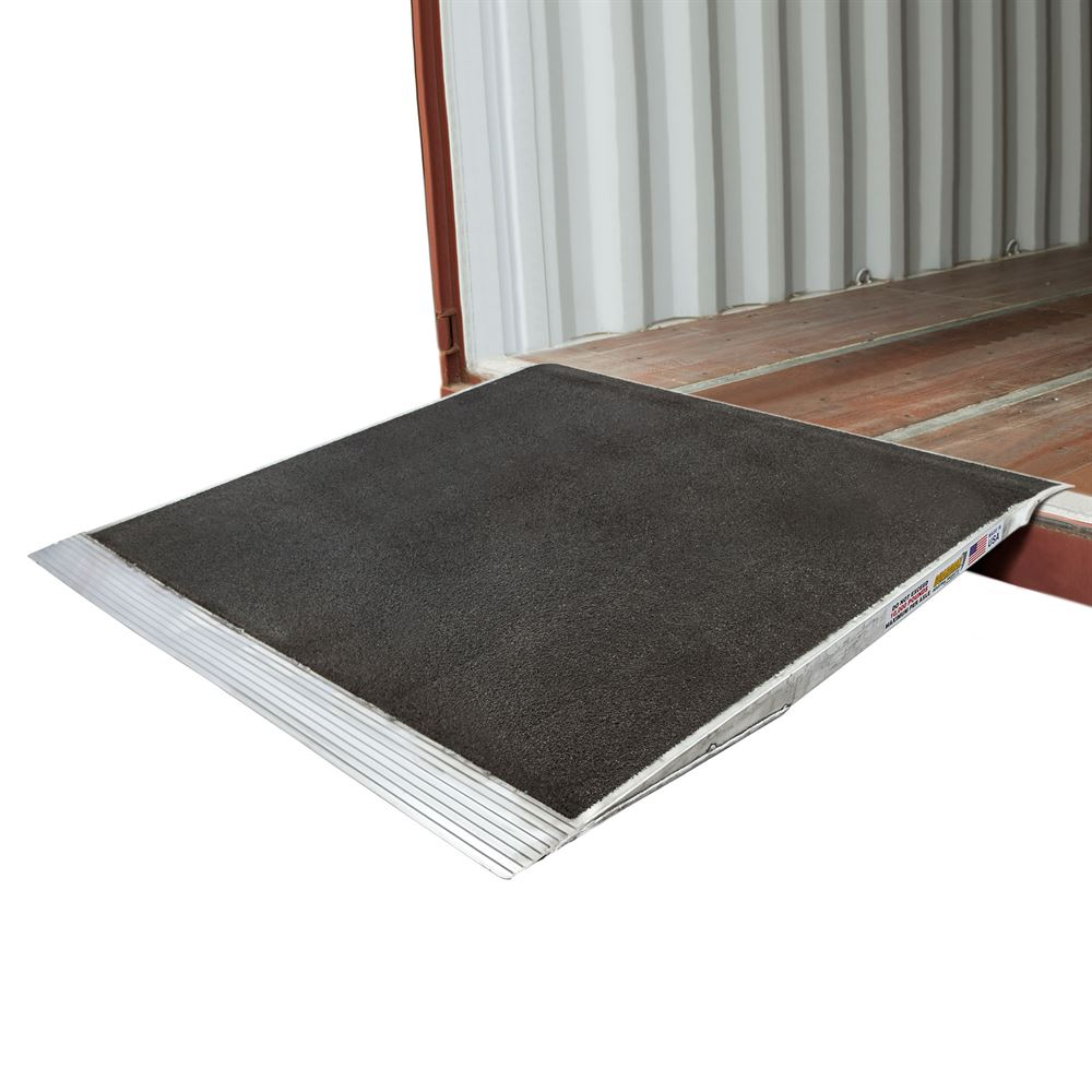 10-63-060-06-Grit 60 x 63 Guardian Aluminum Grit Shipping Container Ramps - 10000 lb Capacity