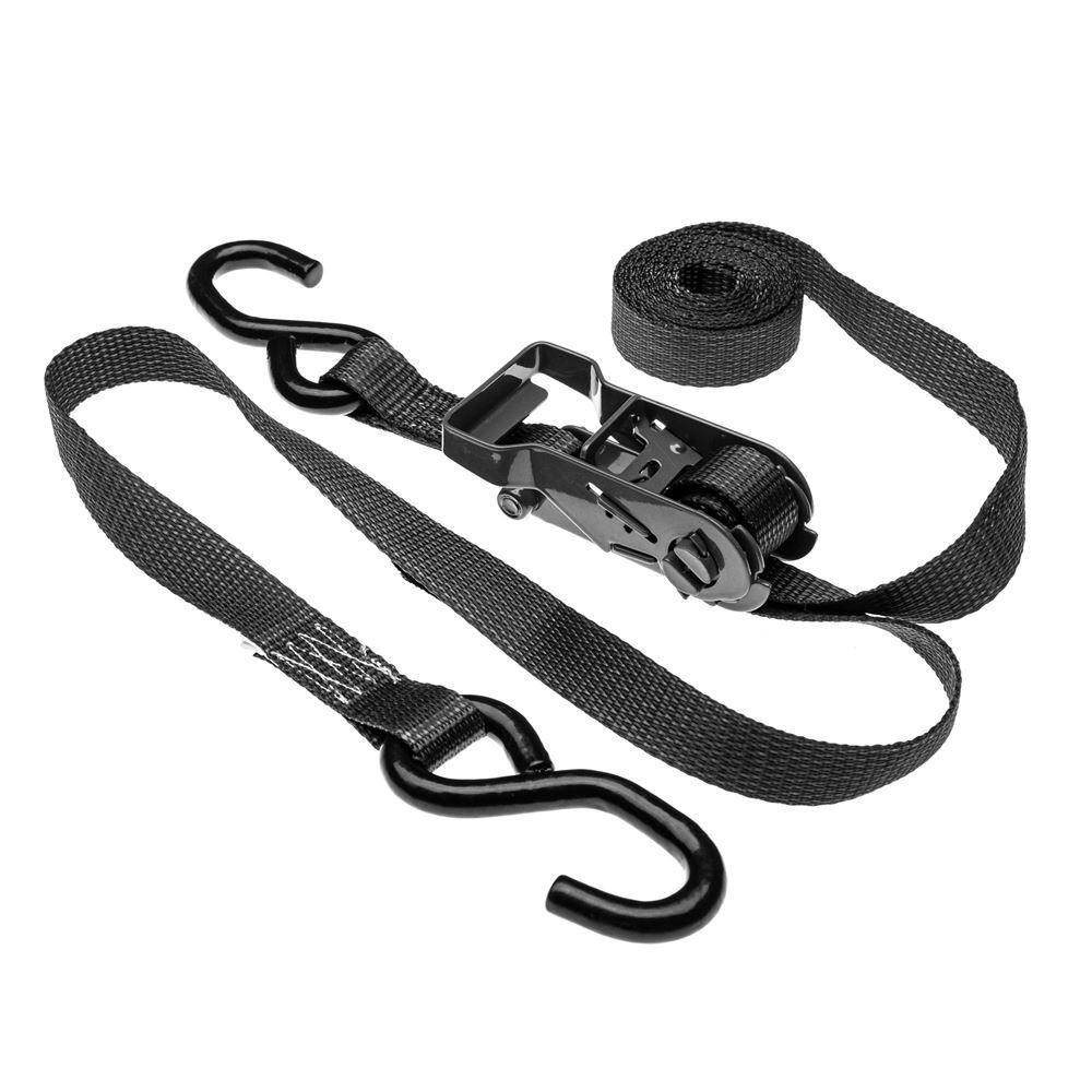 10RAT-SB 1 x 10 Black Ratchet Straps with S-Hooks