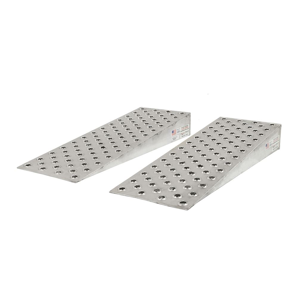 10k-PUNCH-WEDGE Guardian Aluminum Shipping Container Wedge Ramps - 10000 lb Capacity