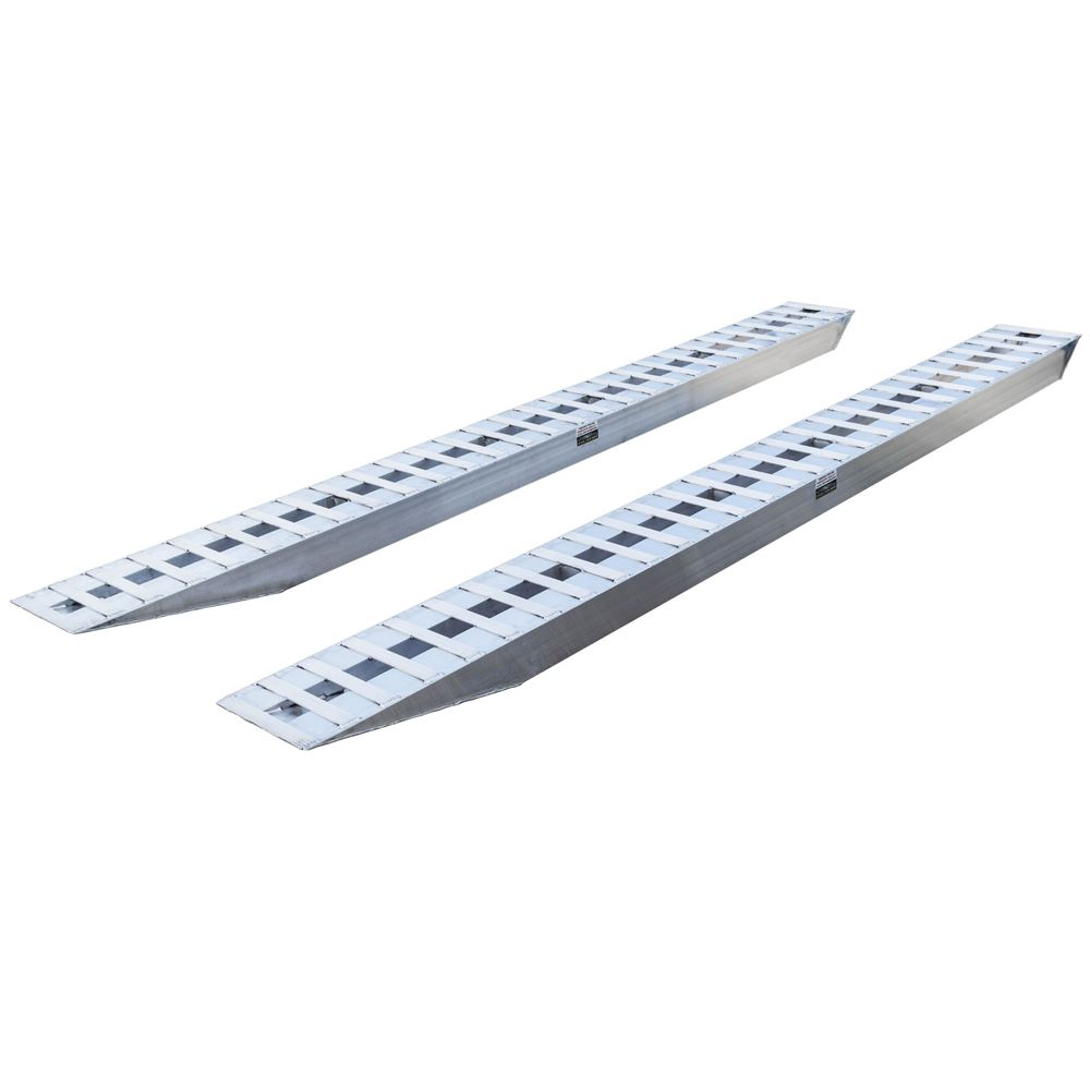 12-16-168-02 14 L x 16 W x 6-14 H Aluminum Ramps with Pin-On Ends - 12000 lb per axle Capacity