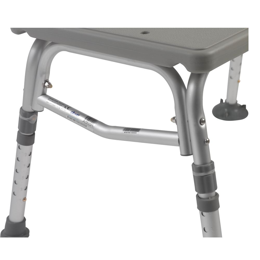 Drive Medical Plastic Tub Transfer Bench with Adjustable Backrest ...