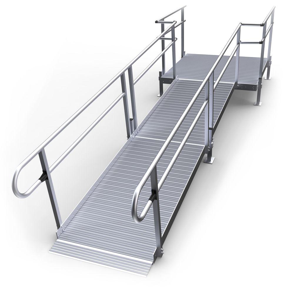 13-55S Silver Spring 13 Straight Modular Ramp with 5 Platform