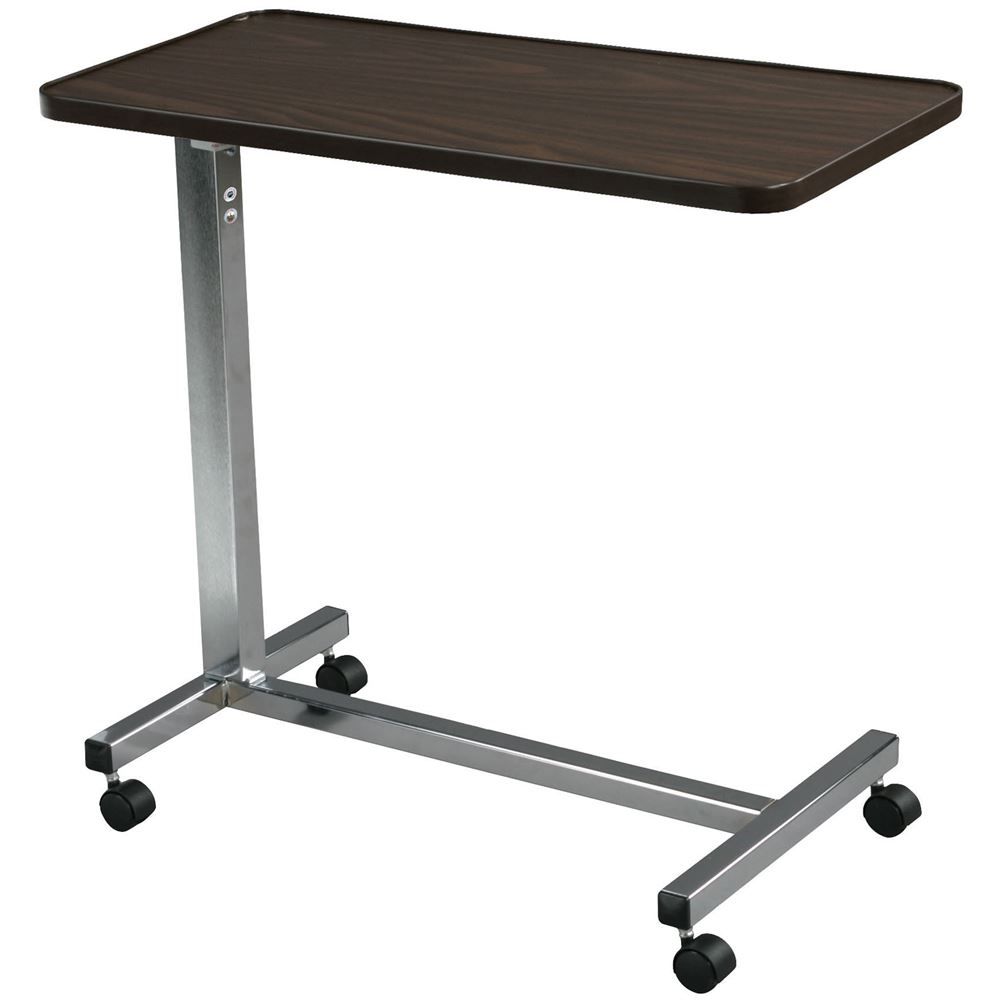 13003D Drive Medical Chrome Non Tilt Top Overbed Table