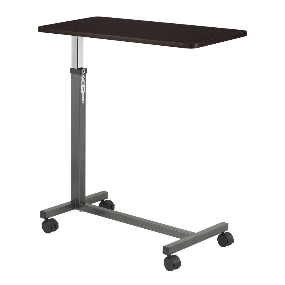 13067D Drive Medical Silver Vein Non Tilt Top Overbed Table