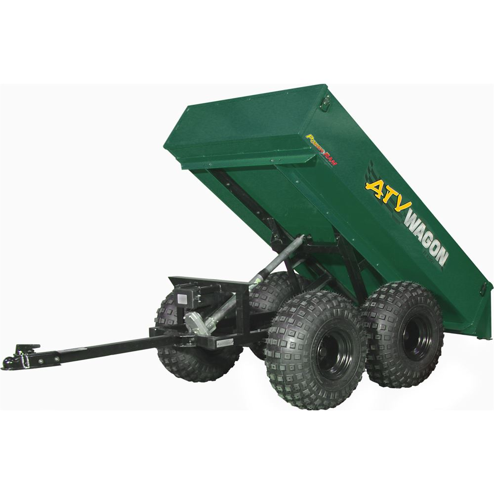 1600UT-FG Forest Green Bosski ATV Wagon Steel Tow-Behind ATV Utility Trailer - 1100 lb Capacity