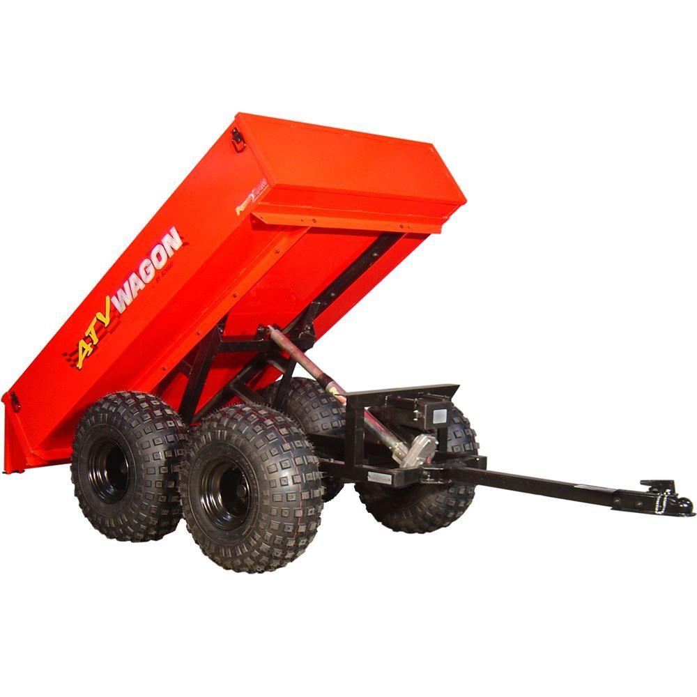 1600UT-RD Red Bosski ATV Wagon Steel Tow-Behind ATV Utility Trailer - 1100 lb Capacity