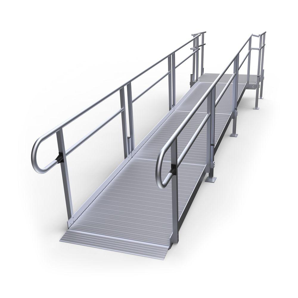 17-55S Silver Spring 17 Straight Modular Ramp with 5 Platform