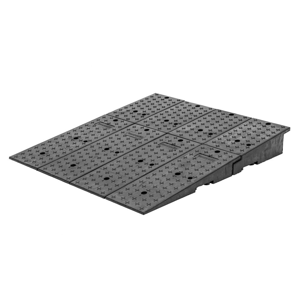 20CR44911 Guardian Rubber Full-Width Wedge Shipping Container Ramps - 49 x 44