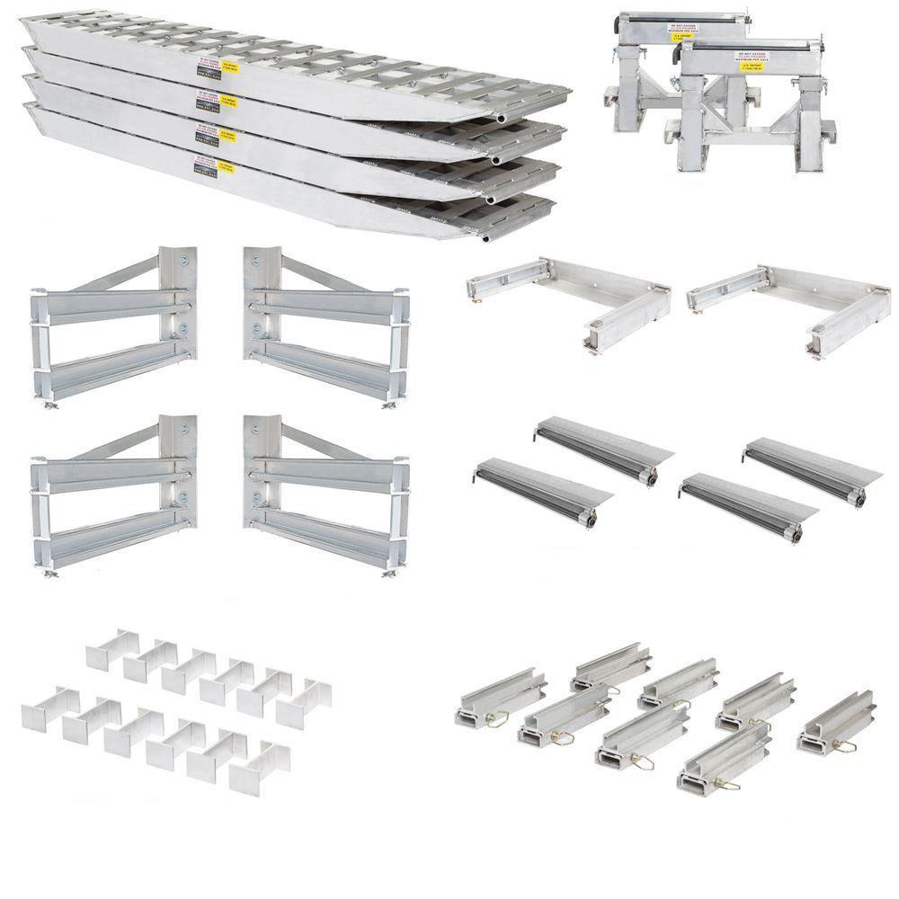 23-20-192-02-02-MLL-4-KIT 8 L x 20 W 4 Bunk Load Leveler  4 Ramp Master Kit for 20 H Step Deck Trailers  23500 lb Capacity