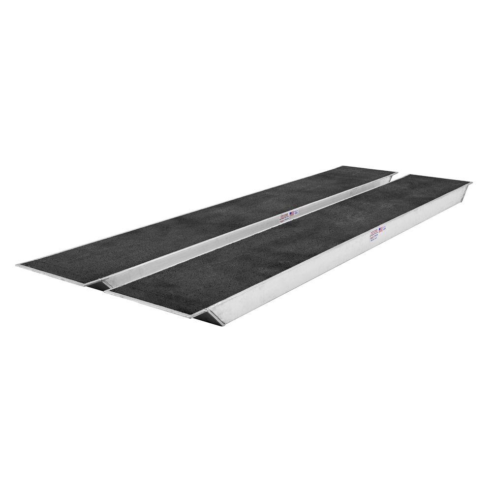 25-24-144-06-06-GRIT RGN Trailer Aluminum Spanner Ramp - 12 L x 24 W - 25000 lb Max Axle