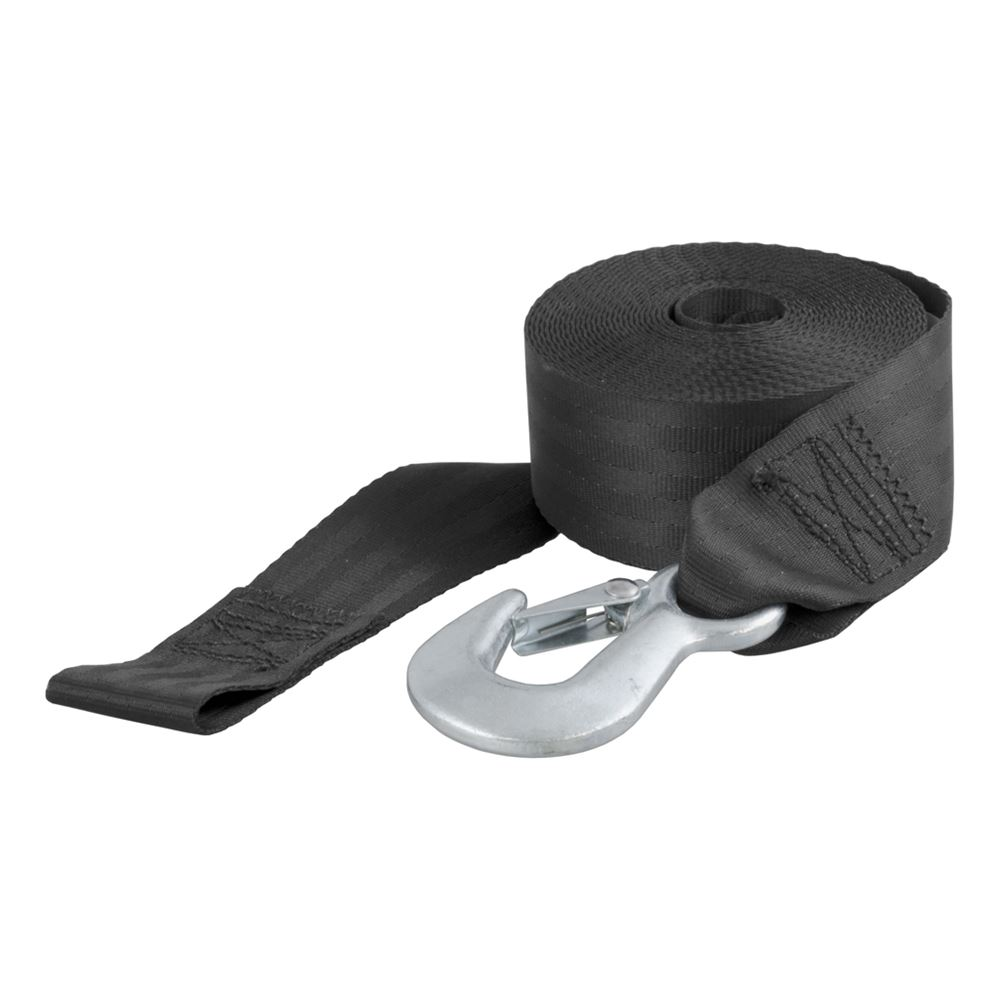 29007 Curt 29007 2 In 20 Ft Nylon Winch Strap With Hook