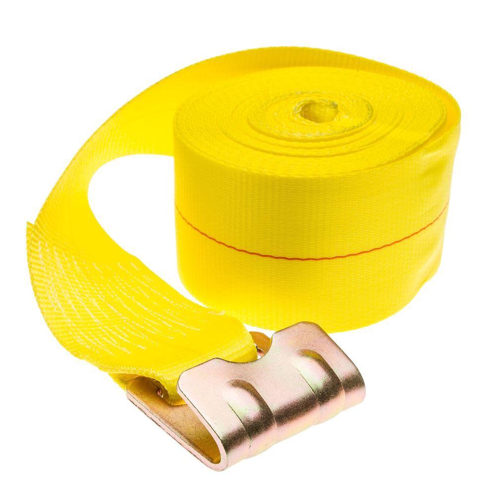 4in-Winch-Flat-40 Single 4 x 40 Heavy-Duty Winch Strap with Flat Hook