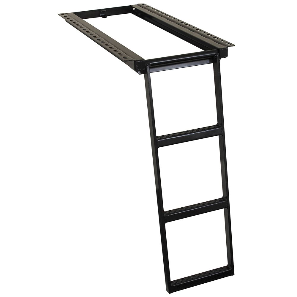 Buyers Products 5233000 Black 3-Rung Retractable Truck Step