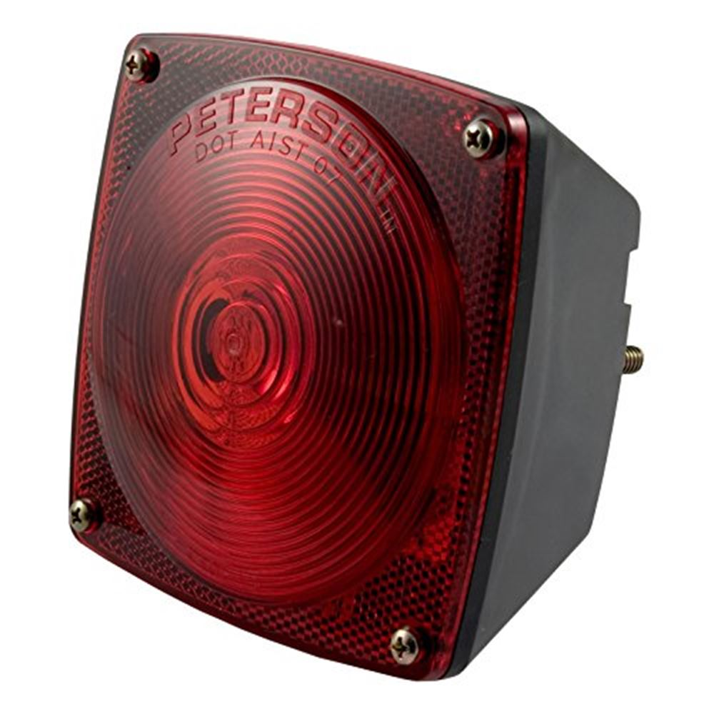 53441 Curt 53441 Red Combination Light WOut License Illuminator-Left Side