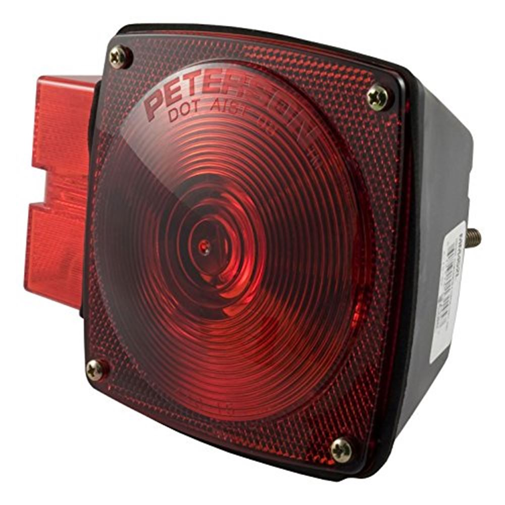 53453 Curt 53453 Red Submersible Combo Light WLicense Illuminator-Left Side