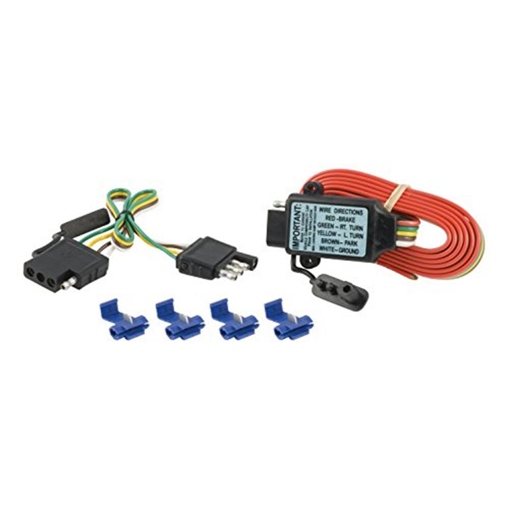 55179 Curt 55179 4 Flat 3 to 2 Converter 12 In Kit Packaged