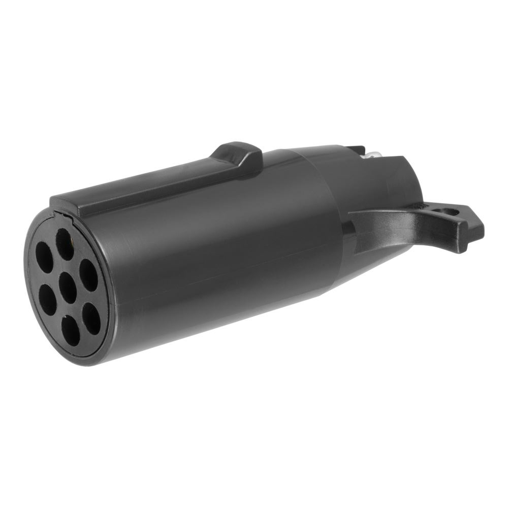57041 Curt 57041 7-Pole Round to 4 Flat Adapter - Pkg