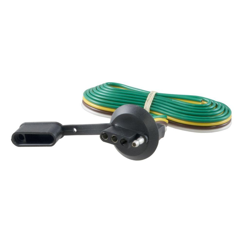 57406 Curt 57406 4-Flat to 4-Flat 125 In Diameter Plug 60 In Lead Plug