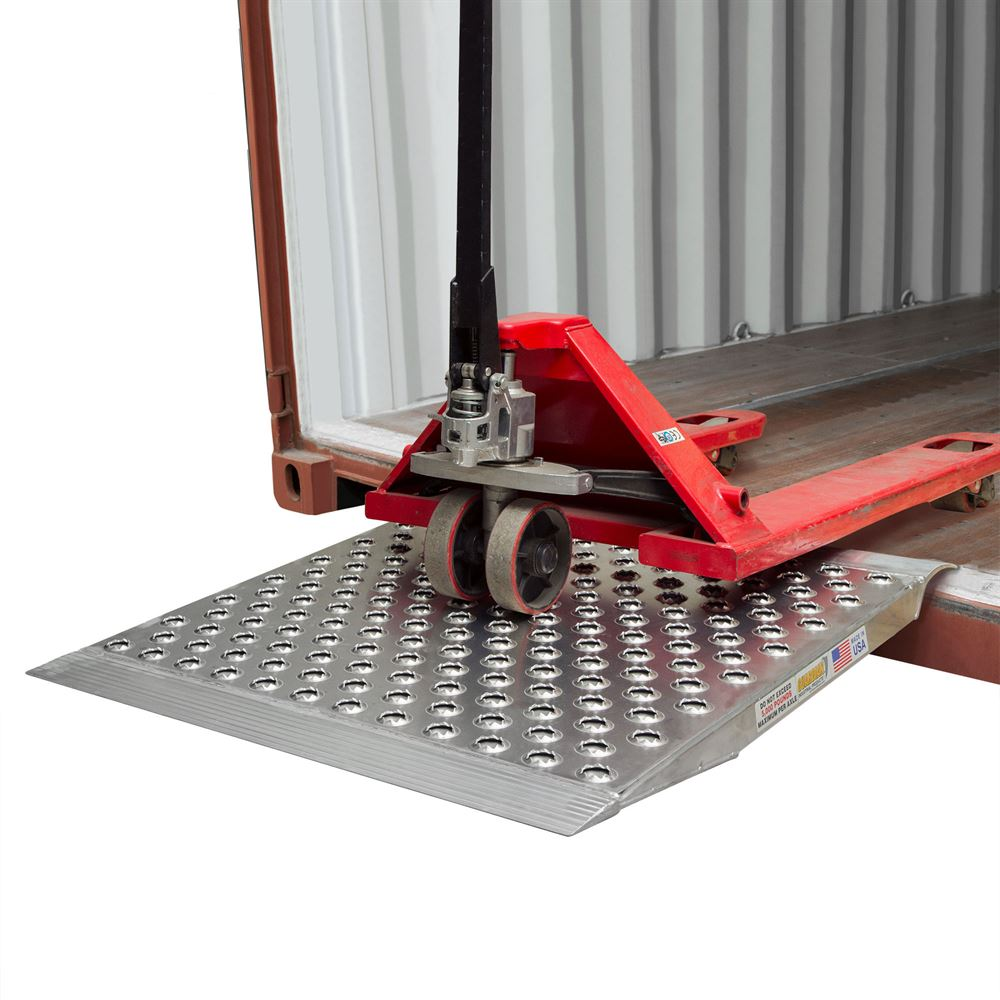Guardian Aluminum Punch-Plate Shipping Container Ramp - 5,000 lb  Capacity