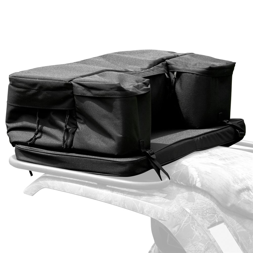 62102 Black ATV Rack Pack Rear Utility Pack with Cushion