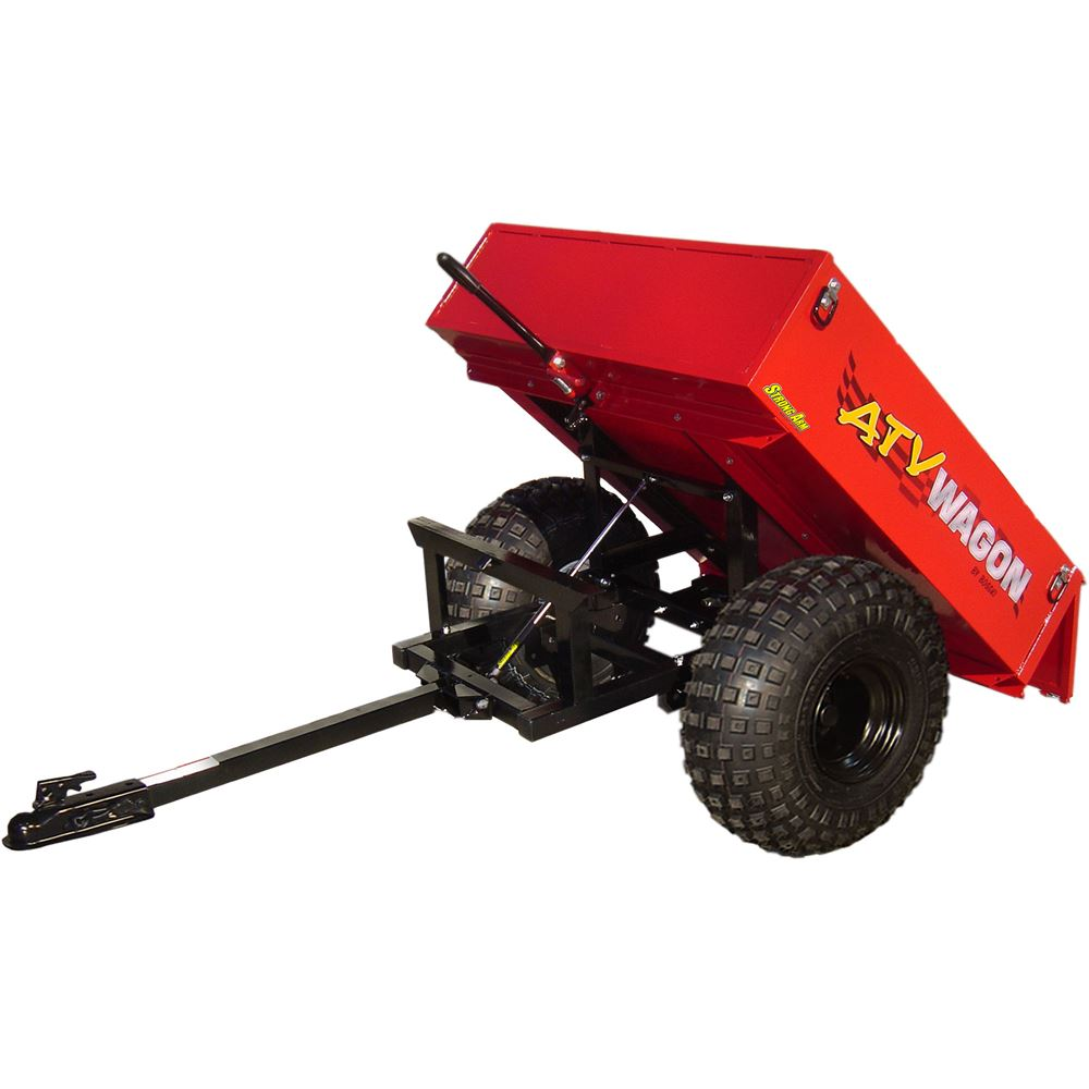 800UT-X-RD Red Bosski ATV Wagon Steel ATV Dump Trailer - 800 lb Capacity
