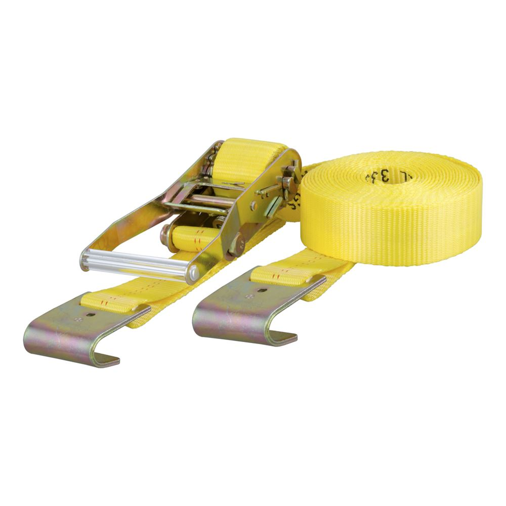 83050 2 x 27ft Ratchet Strap W2 Flat Hooks 10000lb Capacity