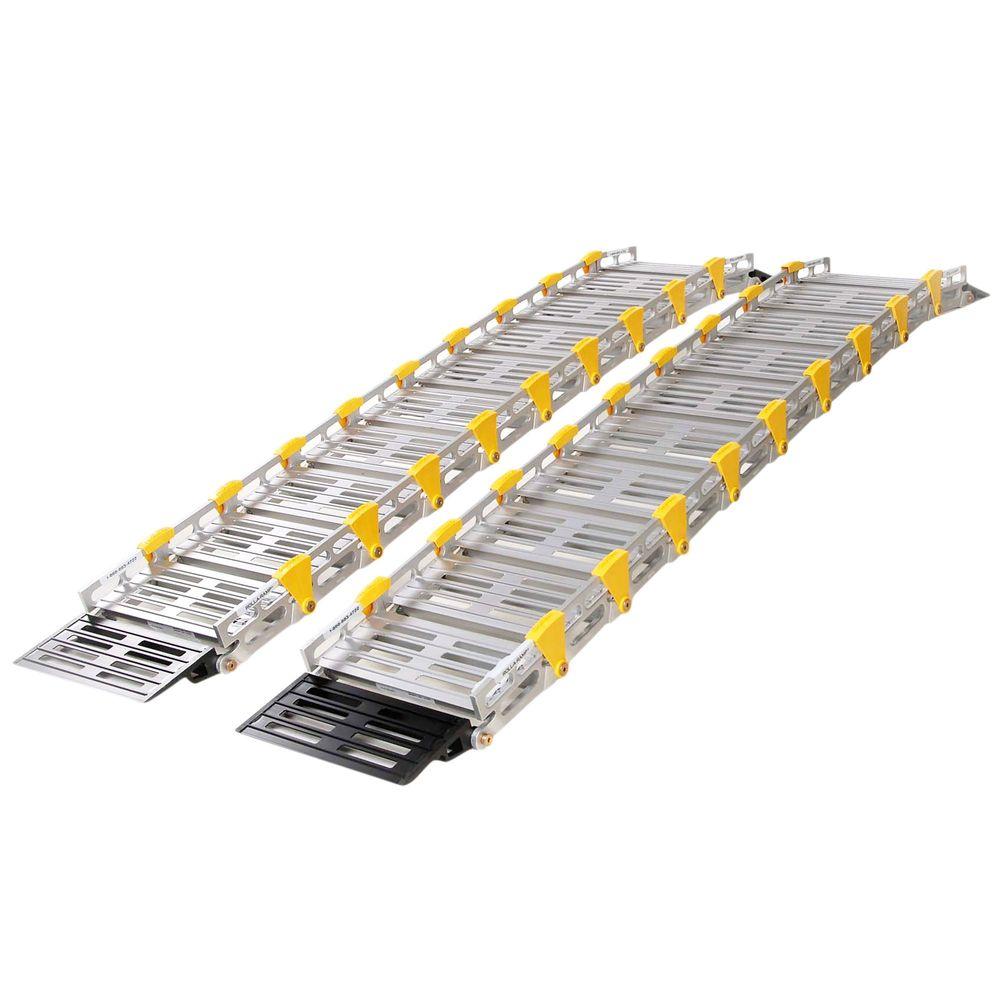 A11208A19 9 L Roll-A-Ramp Aluminum Roll-up Twin Track Ramp