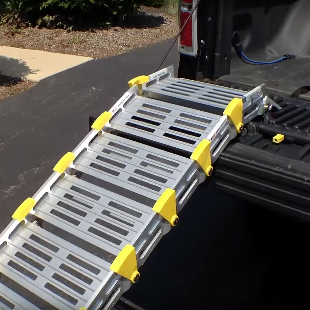 A112 Roll-A-Ramp Aluminum Roll-Up Twin Track Ramps 3