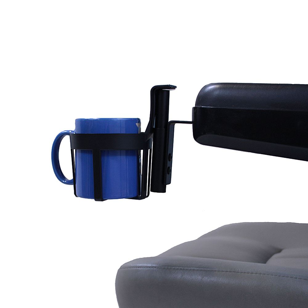 A132 2 44 Oz Cup Holder For Powerchair Mobility Scooter Armrests