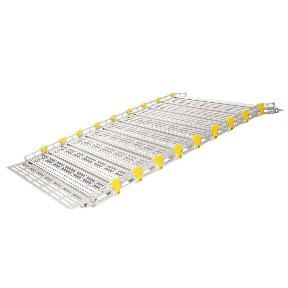 A13603A19 4 L x 36 W Roll-A-Ramp Aluminum Roll-Up Wheelchair Ramps