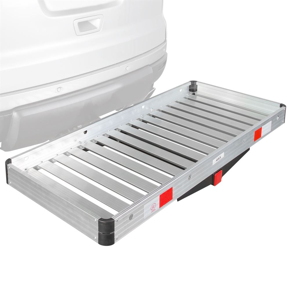"48/"" Aluminum 500lb Hitch Mount Cargo Carrier Storage Basket Hauler for Vehicle"