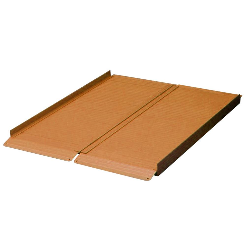 ACR4FN-TC 4 L x 29 W - Terracotta - AlumiRamp Aluminum Landscape Series Single Fold Wheelchair Ramp