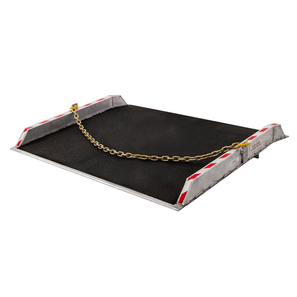 ADB-6036-15000-GRIT 36 x 60 15000 lb Capacity Guardian Aluminum Dock Board with Curbs and Grit Surface
