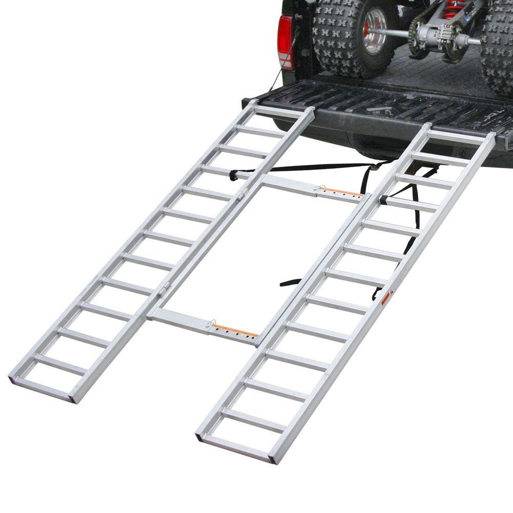 Aluminum Atv Ramps >> Black Widow Aluminum Adjustable Tri Fold Atv Ramp