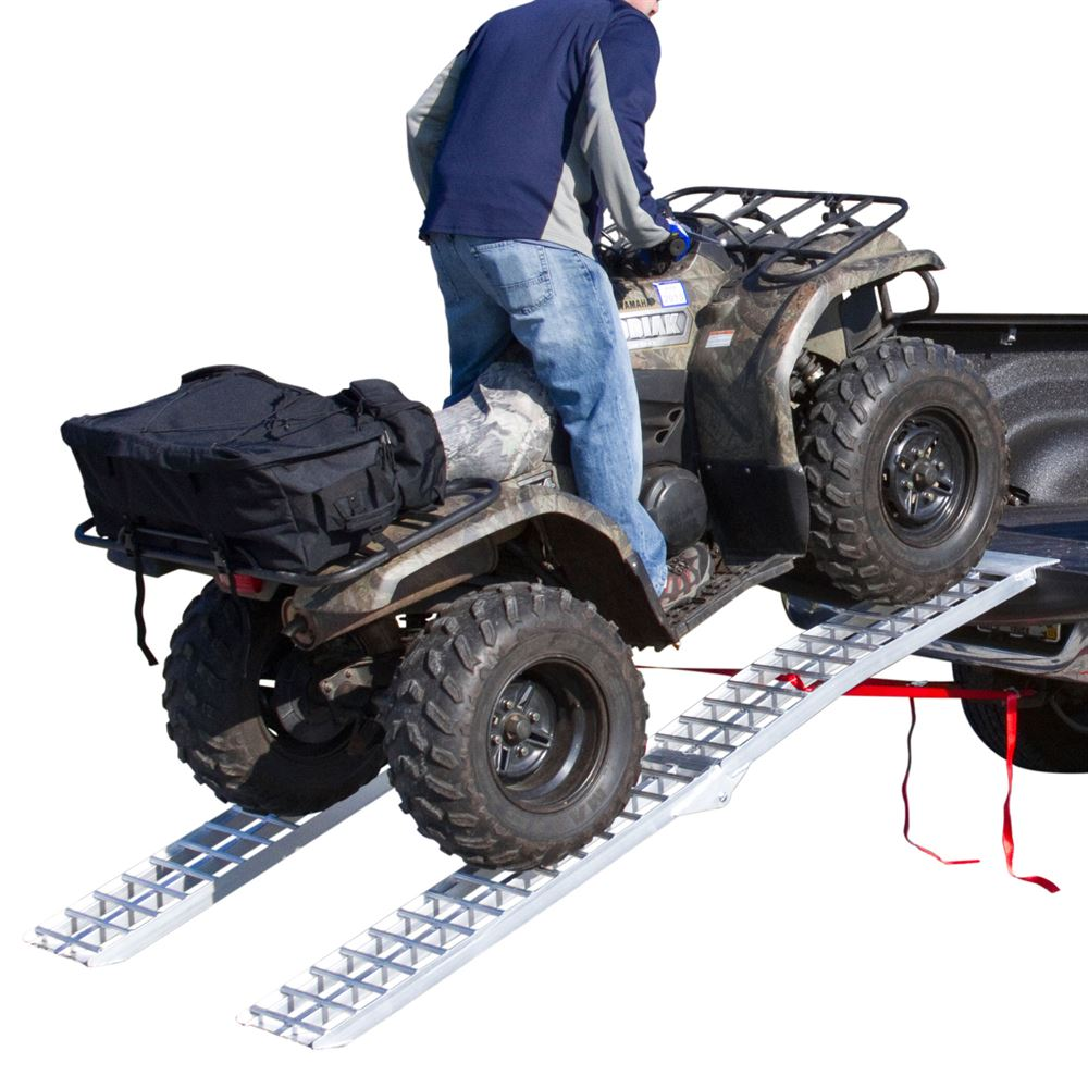 Atv Truck Ramps >> Heavy Duty Aluminum Folding Arched Dual Runner Atv Ramps 7 5 Long