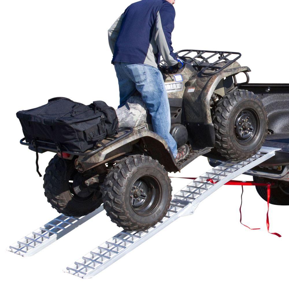 Atv Truck Ramps >> Black Widow Aluminum Heavy Duty Arched Dual Runner Folding Atv Ramps