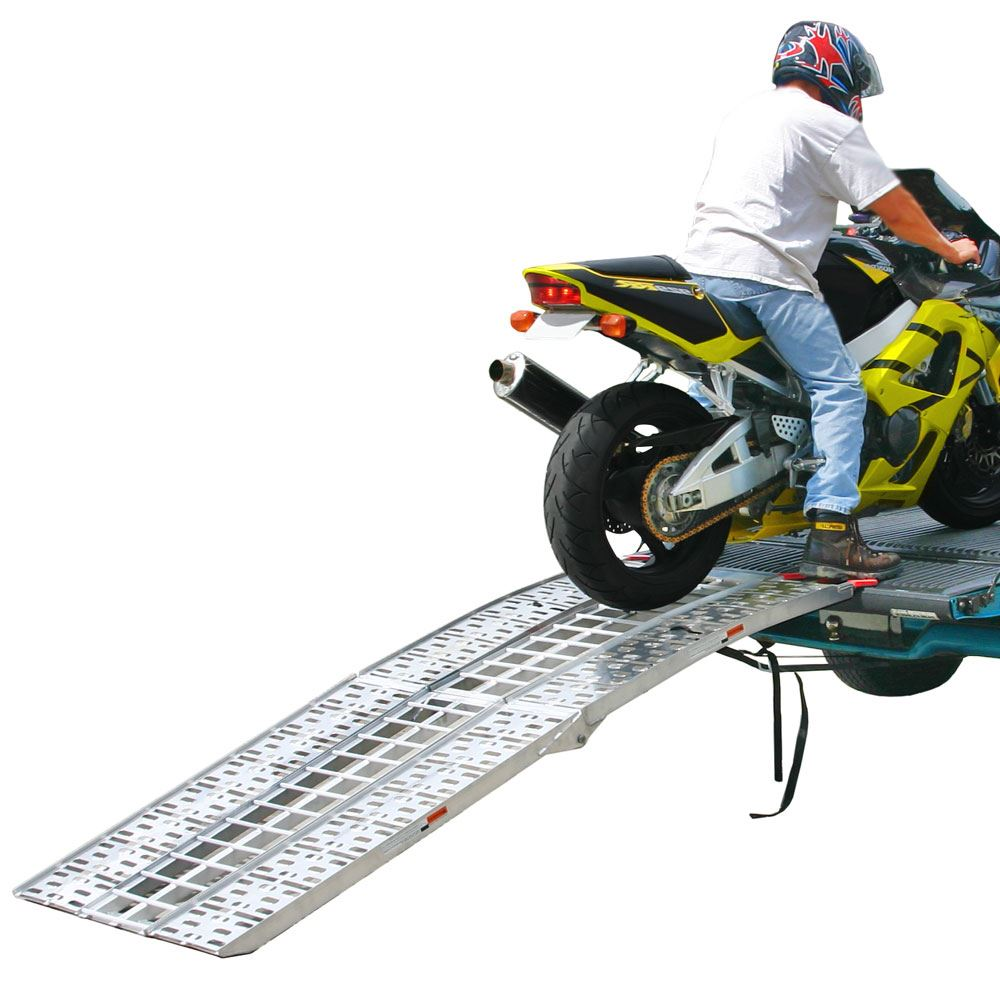 AF-9034-HD Black Widow Aluminum Folding Arched 3-Piece Motorcycle Ramp
