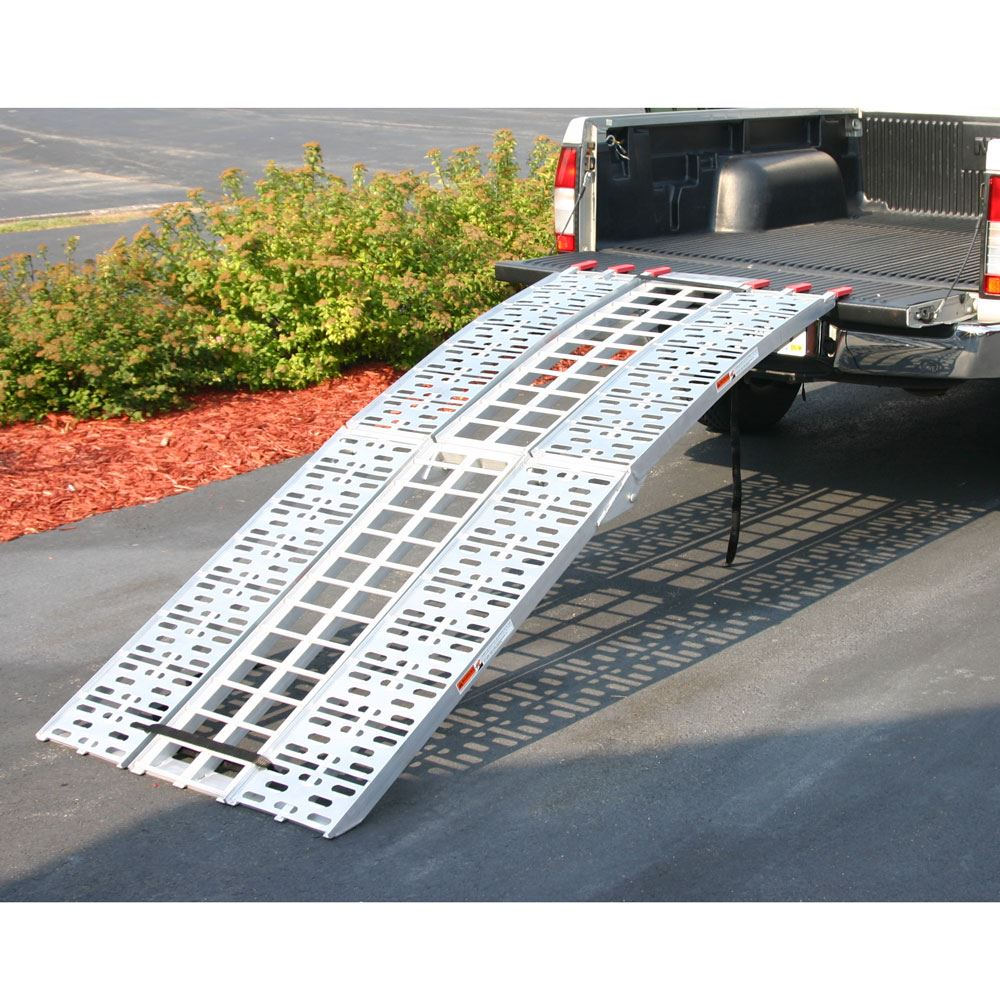 AF-9034-HD 75 L Aluminum Folding Arched Motorcycle Ramp - 1500 lb Capacity 1